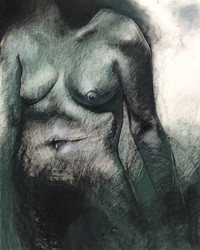 Female Torso, Charcoal and Pastel on Canson Editions, 22 x 30