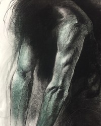 Push, Charcoal and Pastel on Canson Editions, 22 x 30