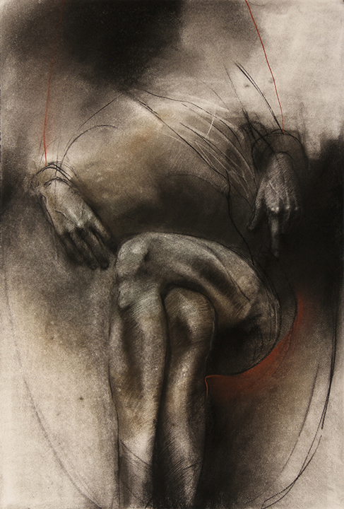 Cradled, Charcoal and Pastel on Canson Editions, 32 x 44