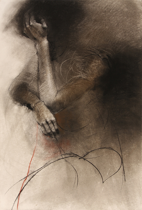 Pressure, Charcoal and Pastel on Canson Editions, 32 x 44